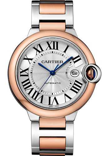 Cartier Watches - Ballon Bleu 42mm - Steel and Pink Gold - Style No: W2BB0004