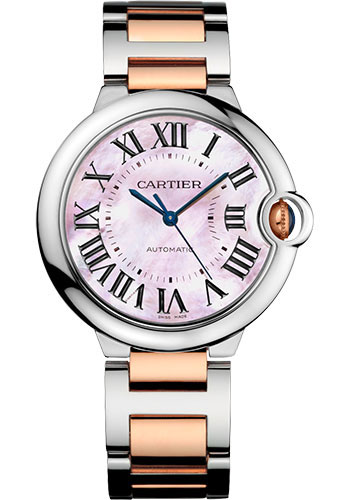 Cartier Watches - Ballon Bleu 36mm - Steel and Pink Gold - Style No: W2BB0011
