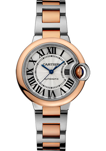 Cartier Watches - Ballon Bleu 33mm - Steel and Pink Gold - Style No: W2BB0023