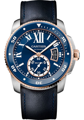 Cartier Watches - Calibre de Cartier Diver - Steel and Gold - Style No: W2CA0008