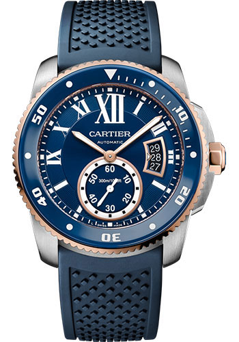 Cartier Watches - Calibre de Cartier Diver - Steel and Gold - Style No: W2CA0009