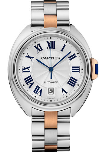 Cartier Watches - Cle de Cartier 40mm - Steel and Pink Gold - Style No: W2CL0002