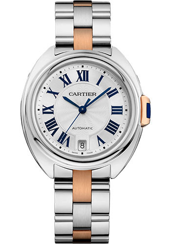 Cartier Watches - Cle de Cartier 35mm - Steel and Pink Gold - Style No: W2CL0003