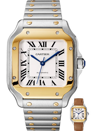 Cartier Watches - Santos de Cartier Medium - Steel and Yellow Gold - Style No: W2SA0007