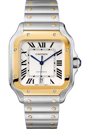 Cartier Watches - Santos de Cartier Large - Steel and Yellow Gold - Style No: W2SA0009
