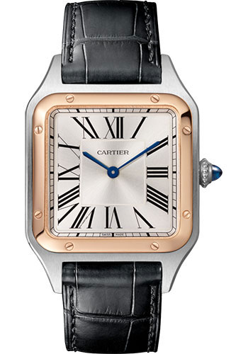 Cartier Watches - Santos Dumont Large - Steel and Pink Gold - Style No: W2SA0011