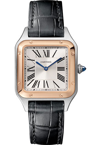 Cartier Watches - Santos Dumont Small - Steel and Pink Gold - Style No: W2SA0012