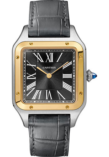 Cartier Watches - Santos Dumont Extra Large - Steel and Yellow Gold - Style No: W2SA0015