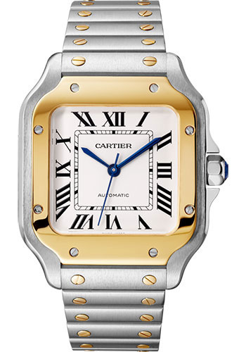 Cartier Watches - Santos de Cartier Medium - Steel and Yellow Gold - Style No: W2SA0016