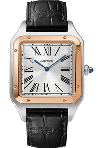 Cartier Watches - Santos Dumont Extra Large - Steel and Pink Gold - Style No: W2SA0017