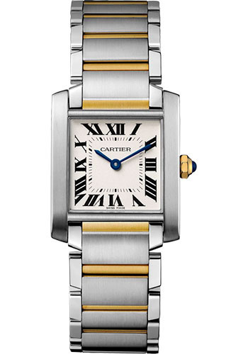 Cartier Watches - Tank Francaise Medium - Steel and Yellow Gold - Style No: W2TA0003