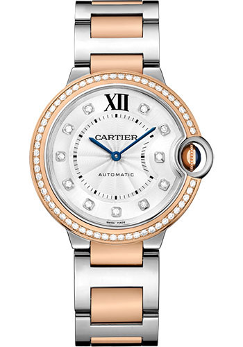 Cartier Watches - Ballon Bleu 36mm - Steel and Pink Gold - Style No: W3BB0004