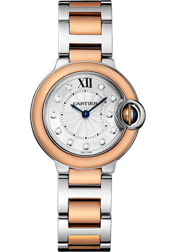 Cartier Watches - Ballon Bleu 28mm - Steel and Pink Gold - Style No: W3BB0005