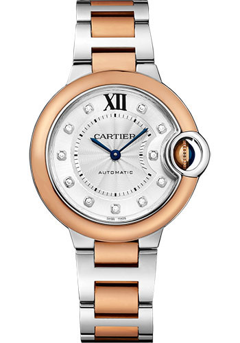 Cartier Watches - Ballon Bleu 33mm - Steel and Pink Gold - Style No: W3BB0006