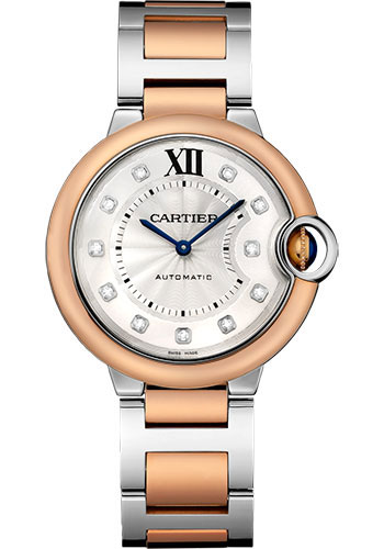 Cartier Watches - Ballon Bleu 36mm - Steel and Pink Gold - Style No: W3BB0007