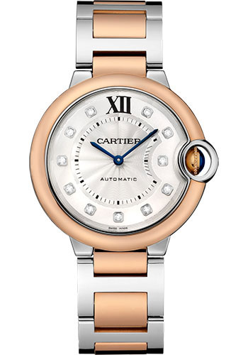 Cartier Watches - Ballon Bleu 36mm - Steel and Pink Gold - Style No: W3BB0013