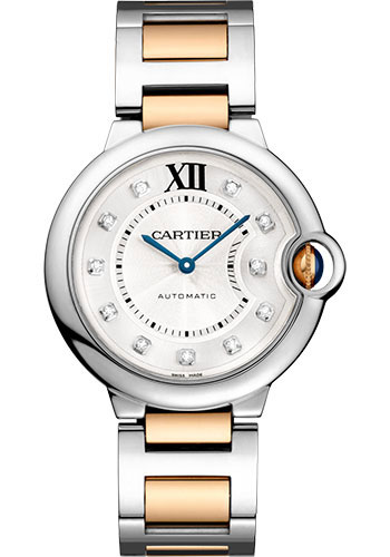 Cartier Watches - Ballon Bleu 36mm - Steel and Pink Gold - Style No: W3BB0018