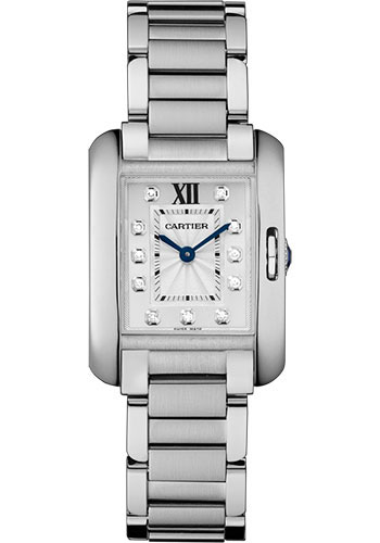 Cartier Watches - Tank Anglaise Stainless Steel - Style No: W4TA0003