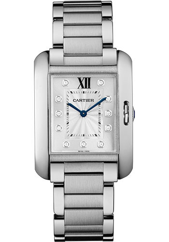 Cartier Watches - Tank Anglaise Stainless Steel - Style No: W4TA0004