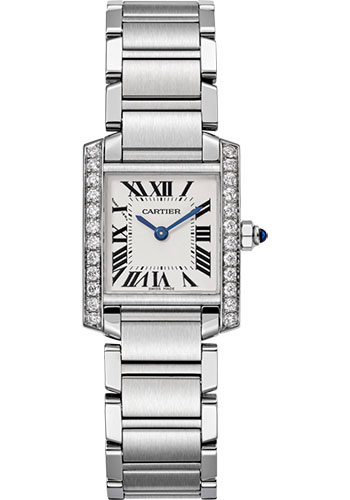 Cartier Watches - Tank Francaise Small - Stainless Steel - Style No: W4TA0008
