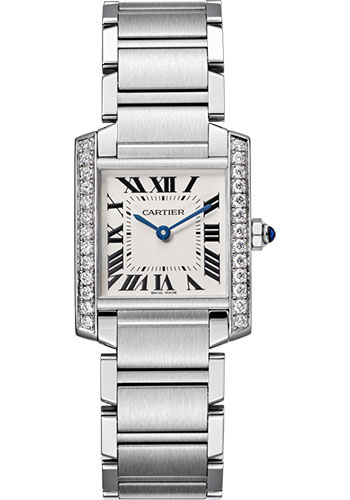 Cartier Watches - Tank Francaise Medium - Stainless Steel - Style No: W4TA0009