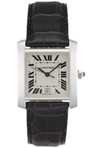 Cartier Watches - Tank Francaise Medium - White Gold - Style No: W5001156