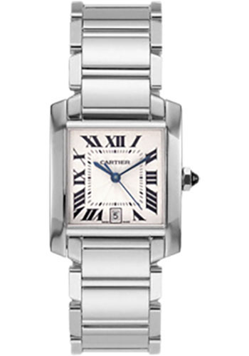 Cartier Watches - Tank Francaise Large - White Gold - Style No: W50011S3
