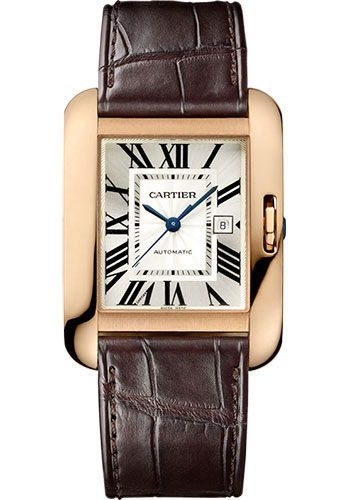 Cartier Watches - Tank Anglaise Pink Gold - Alligator Strap - Style No: W5310005