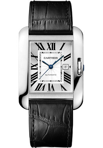 Cartier Watches - Tank Anglaise White Gold - Alligator Strap - Style No: W5310031