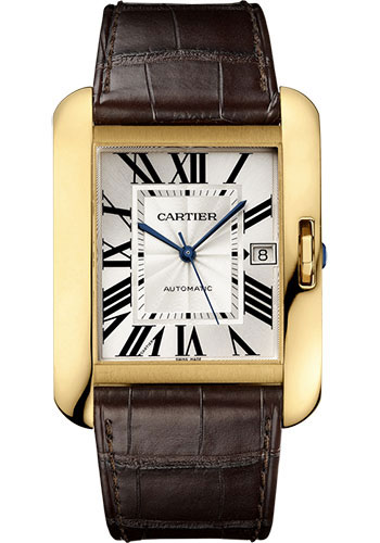 Cartier Watches - Tank Anglaise Yellow Gold - Alligator Strap - Style No: W5310032