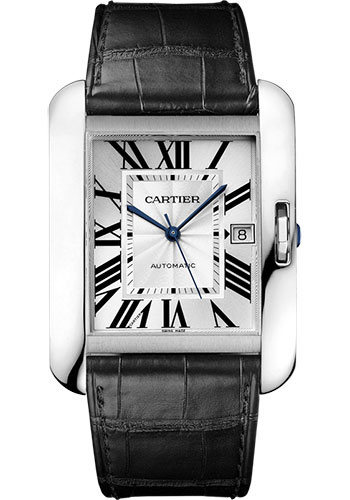 Cartier Watches - Tank Anglaise White Gold - Alligator Strap - Style No: W5310033