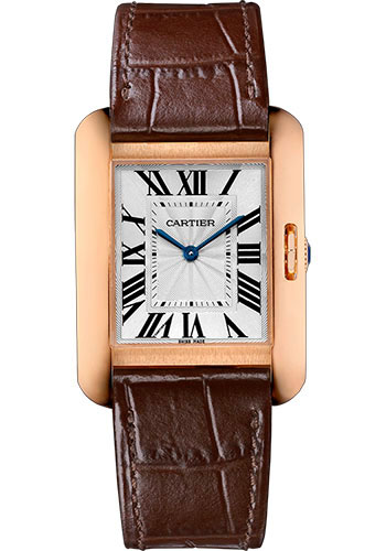 Cartier Watches - Tank Anglaise Pink Gold - Alligator Strap - Style No: W5310042