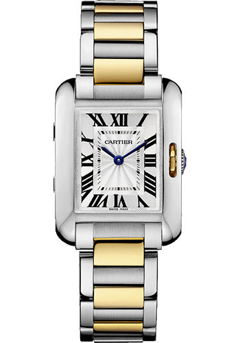 Cartier Watches - Tank Anglaise Stainless Steel and Yellow Gold - Style No: W5310046