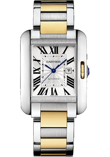 Cartier Watches - Tank Anglaise Stainless Steel and Yellow Gold - Style No: W5310047