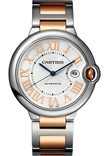 Cartier Watches - Ballon Bleu 42mm - Steel and Pink Gold - Style No: W6920095