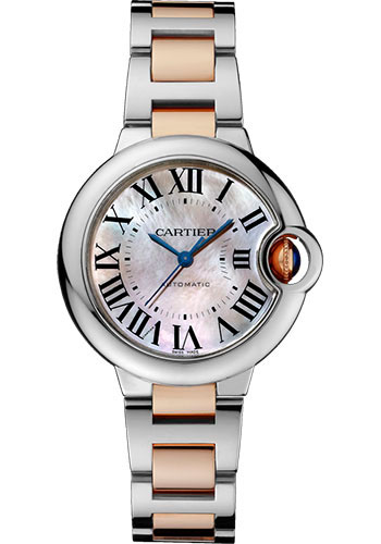 Cartier Watches - Ballon Bleu 33mm - Steel and Pink Gold - Style No: W6920098