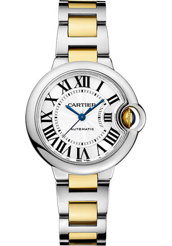 Cartier Watches - Ballon Bleu 33mm - Steel and Yellow Gold - Style No: W2BB0002
