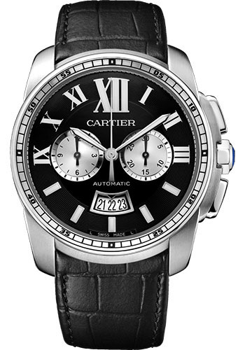 Cartier Watches - Calibre de Cartier Chronograph - Stainless Steel - Style No: W7100060