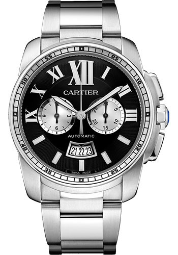 Cartier Watches - Calibre de Cartier Chronograph - Stainless Steel - Style No: W7100061