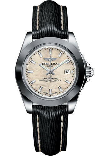 Breitling Watches - Galactic 32 Sleek Stainless Steel - Sahara Strap - Tang - Style No: W7133012/A800/208X/A14BA.1