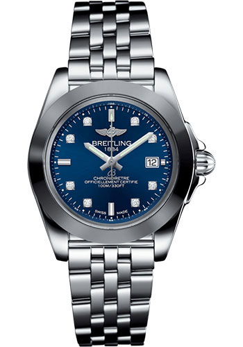 Breitling Watches - Galactic 32 Sleek Stainless Steel - Pilot Bracelet - Style No: W7133012/C966/792A