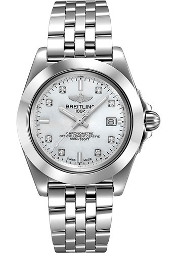 Breitling Watches - Galactic 32 Sleek Stainless Steel - Pilot Bracelet - Style No: W71330121A1A1