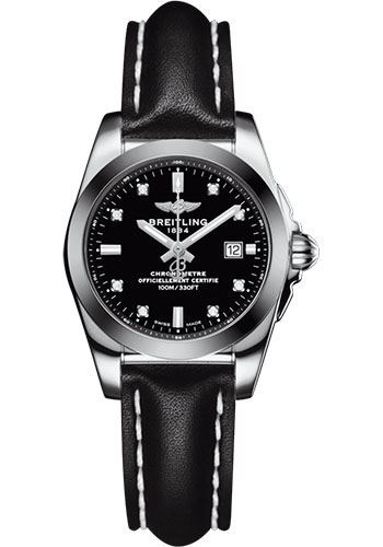 Breitling Watches - Galactic 29 SleekT Stainless Steel - Tungsten Bezel - Leather - Tang - Style No: W7234812/BE50/477X/A12BA.1