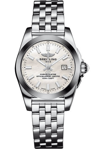 Breitling Watches - Galactic 29 SleekT Stainless Steel - Tungsten Bezel - Pilot Bracelet - Style No: W72348121A1A1