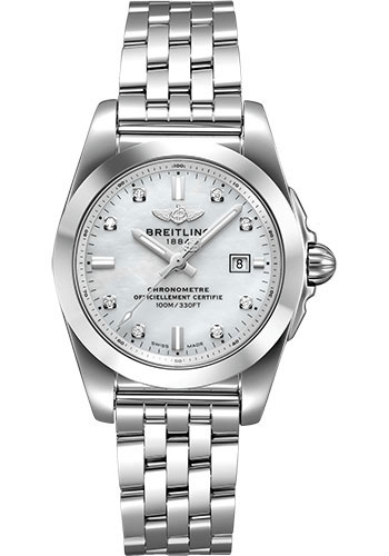 Breitling Watches - Galactic 29 SleekT Stainless Steel - Tungsten Bezel - Pilot Bracelet - Style No: W72348121A2A1