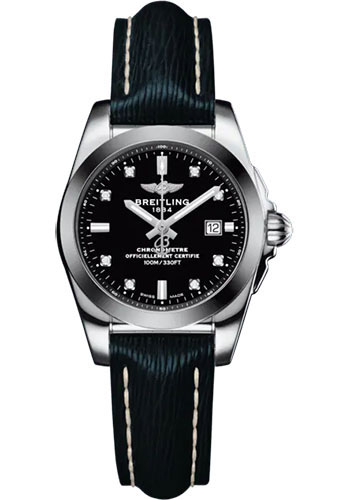 Breitling Watches - Galactic 29 Sleek Steel and Tungsten - Leather Strap - Tang Buckle - Style No: W72348121B1X1