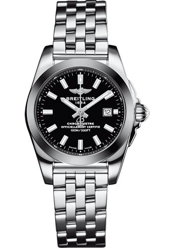 Breitling Watches - Galactic 29 SleekT Stainless Steel - Tungsten Bezel - Pilot Bracelet - Style No: W72348121B2A1