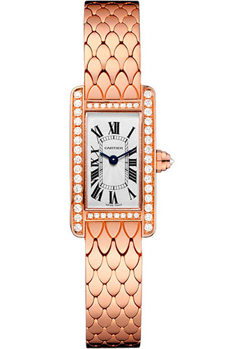 Cartier Watches - Tank Americaine Mini - Pink Gold - Style No: WB710012