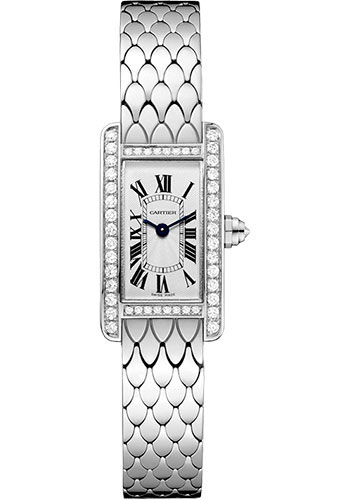 Cartier Watches - Tank Americaine Mini - White Gold - Style No: WB710013