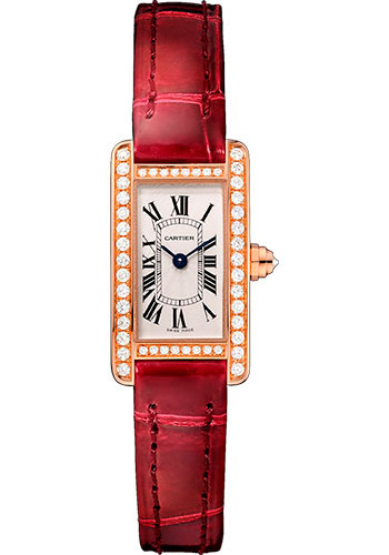 Cartier Watches - Tank Americaine Mini - Pink Gold - Style No: WB710014